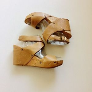 Lucky Brand Shoes - Lucky Brand Morgan Tan Wedge Sandals Size 9.5 M